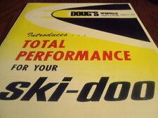 1971 SKI DOO DOUGS RACING Snowmobile Dealer Parts Brochure Oil
