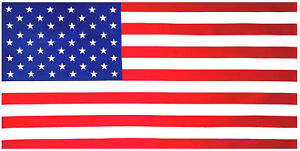 "30""x60"" American Flag (12pcs) USA Flag Beach Towel 100% Cotton"