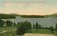 SARANAC LAKE NY – Lower Saranac Lake from Algonquin Hotel – Adirondack Mountains