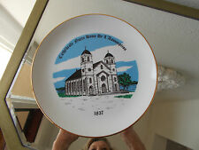 Cathedral Notre Dame De L'Assumption, Canada, Collectors Plate 22K Gold Trim EUC