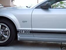 05-09 FORD MUSTANG GT 300 SIDE STRIPES 2005 2006 2007 2008 2009 VINYL STICKERS