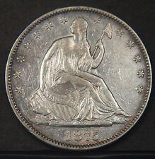 1875 Liberty Seated Half Dollar  Nice Higher Grade  (B2934)