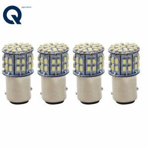 4x 1157 BAY15D 50-SMD LED Tail Stop Brake Light Bulbs 7528 12V 6000K White New