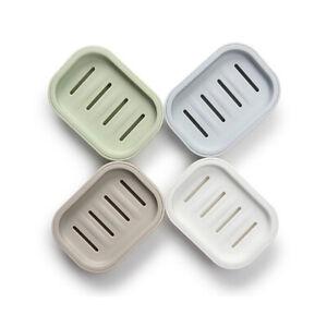 Double Layer Plastic Drain Soap Dish Holder Storage Box Tray Container Bathroom