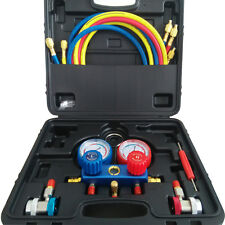 ACTECmax A/C Air Condition R134a Manifold Gauge Set Kit Auto Refrigerant 6 ft.