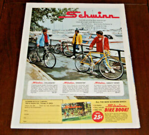 Print Sales AD Advertisement Schwinn Bike Bicycle for 1972 Speedster Collegiate