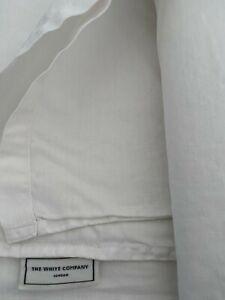 READ DESCRIPTION Kingsize White Company 100% Linen Flat Sheet Damaged Repurpose
