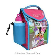 DISNEY'S MINNIE MOUSE DELUXE INSULATED LUNCH BAG WITH BOTTLE BRAND NEW