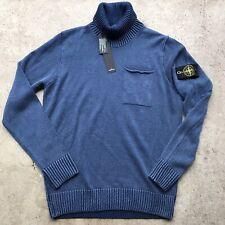 Stone Island Turtleneck Sweater NWT Blue Large Authentic