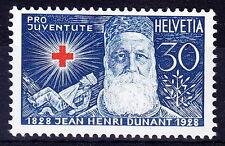 Switzerland 1928 MNH, Red Cross, Henry Dunant