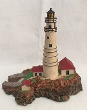 "Danbury Mint Lighthouse Boston Light Massachusetts 6.25"" Tall"