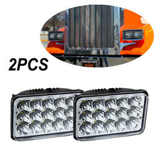 "Pair 4X6"" Inch LED chips Bulb Crystal Clear Sealed Beam Headlight Headlamp"