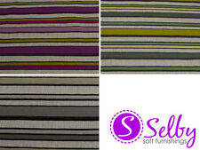 Unbranded Chenille Striped Craft Fabrics