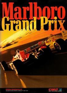 1990 CART Indy Car Marlboro Grand Prix Program Meadowlands, Michael Andretti win