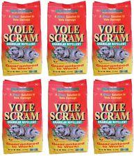 (6) bags Vole Scram # 18006 6 lb Organic Natural Vole Repellent Granules