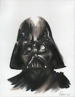 DARTH VADER Ink sketch 8x11 portrait drawing Star Wars force Jedi empire knight