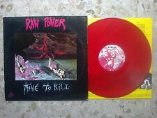 RAW POWER - MINE TO KILL - LP 1989 ORIGINAL RARE ITALY hc EX-/EX+ negazione kina
