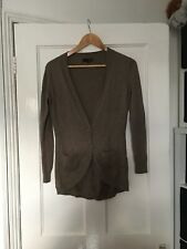 Next Size UK 8 Long Sleeve Beige/brown Cardigan.  (h18)