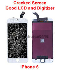 OEM/ Genuine Cracked Screen Good Working LCD for iPhone 6 White