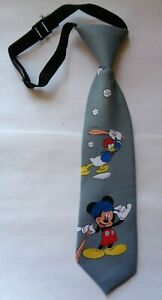 Kinderkrawatte*Mickey Maus,Donald* Grau * Baseball *Krawatte*Schlips