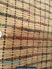 "Gold metallic checkered raw silk fabric 0.5""x 0.5"" by the yard"