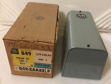 Allen Bradley 849-ZAA33 Pneumatic Timing Relay 849-ZOA33