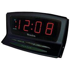 Westclox Digital Battery Backup LED Snooze Black Auto Set Alarm Clock 70012BK