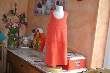 robe bonpoint 6 ans superbe poches ponpons orange tonique a voir etat parfait