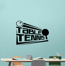 Table Tennis Poster Wall Decal Ping Pong Sport Vinyl Sticker Gym Decor 211hor