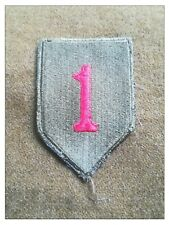 US ww2 Patch insigne 1st division big red one Omaha veste casque dday Ardennes