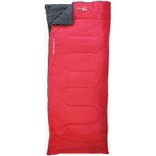 COMFORT 200 SLEEPING BAG NIGHT OUTDOOR SLEEP ZIP GUARD CAMPING TRAVEL WARM RED
