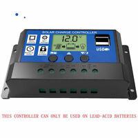 10-30A 12V/24V Solar Panel Charge Controller Battery Regulator Safe Protection