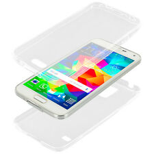 For Samsung Galaxy S5 FULL BODY FRONT BACK TPU CASE Rubber Clear Skin Cover