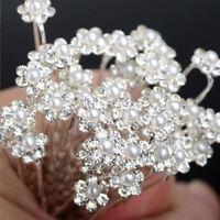 20pcs Wedding Bridal Pearl Flower Rhinestone Hair Pins Set for Bridesmaid New