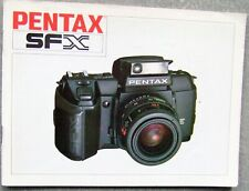 PENTAX SFX INSTRUCTION MANUAL