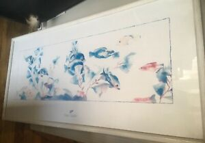 """Framed Beautiful Tracy Taylor 1987 Signed fish Print 40 x 19"""""""