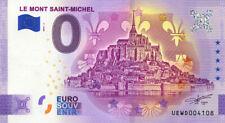 50 LE MONT SAINT-MCHEL Fleurs de lys, 2021, Anniversaire, Billet Euro Souvenir