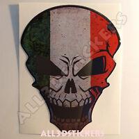 Pegatina Calavera Bandera Italia Adhesivo Relieve Coche Moto Skull  3D