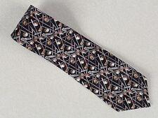 Cromley & Finch, Golfers, Silk Necktie Neck Tie 59 L & 3 3/4 W, D1F