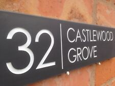 "Quality Slate House Sign 16"" X 4"" Any Name / Number NEW LOW PRICE ENDS SOON!!"