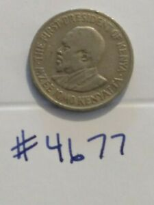 🇰🇪 1971 Kenya 50 Cents Coin - With Obverse Legend  🇰🇪