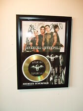 AVENGED SEVENFOLD  SIGNED  GOLD  DISC  Y