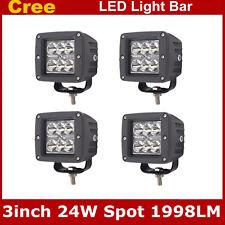 4X 3inch 24W Square CREE LED Cube Pods Work Light Spot Off-road Truck Jeep UTV