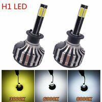 2pcs 4-sides H1 LED Headlight Conversion Kit High Low Beam 3000K 8000K 6000K