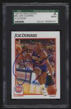 JOE DUMARS 1991-92 NBA Hoops #60 Pistons Signed AUTO SGC Authentic Autograph