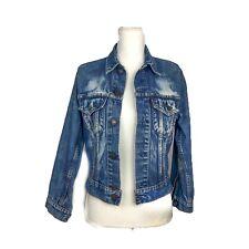 vintage levis denim jacket III Sz 34 70505-0217 Faded Bleached Distressed