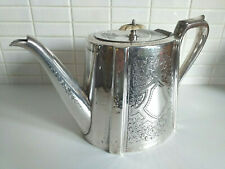 Large & Ornate, Silver Plated TEAPOT (1.2 ltrs) by S&SB very Downton Abbey Style