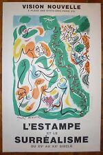 André Masson affiche lithographie signée numérotée surréalisme Mourlot Sorlier