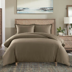Cotton Duvet Cover Solid Color Casual Modern Style Bedding Set Relaxed Soft Feel