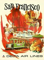 San Francisco California United States Vintage Travel Advertisement Art Print